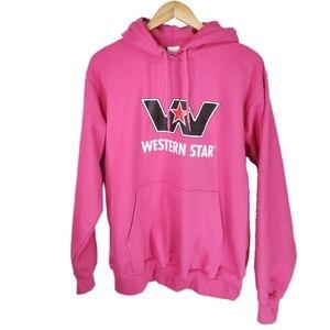 Western Star Pink Oversized Hoodie M